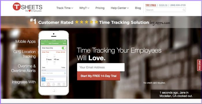 TSheets Review: Best Time and Attendance System for Businesses with a Mobile Workforce